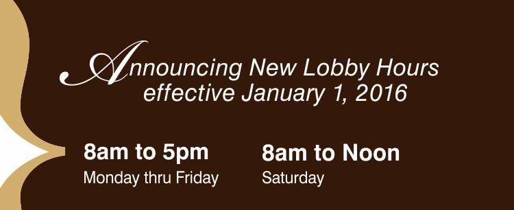 SNB Lobby Hours 2016